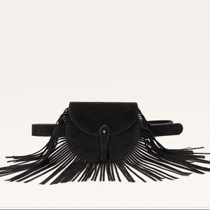 Leather Belt bag with fringes